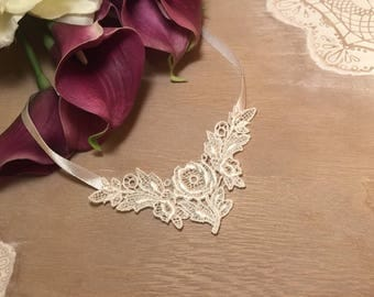 White lace wedding necklace * lace 3 * in STOCK