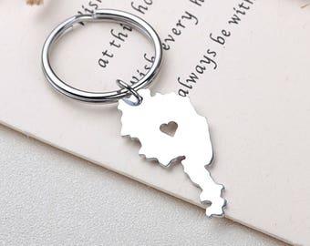 I heart Austria keychain - Austria keyring - Map Jewelry - Country Charm - Map keychain