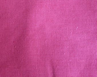 linen fabric single 3 m pink cotton