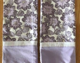 Pillowcase Pair - Lavendar/Grey
