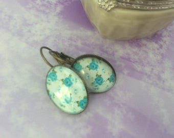 Earrings ' romantic earrings shabby chic turquoise Stud Earrings