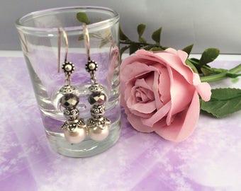 Earrings ' ear romantic silver pearls