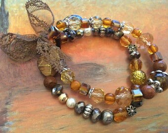 romantic bracelet Red Crystal beads