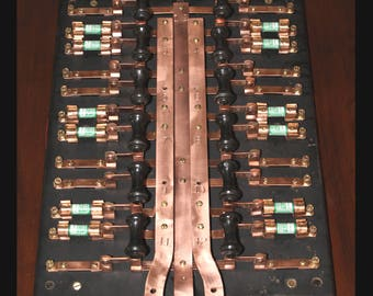 Vintage Knife-Switch Fuse Panel - Excellent Condition - The E.M. Company - Cleveland - Early 1900's - Nice!!!
