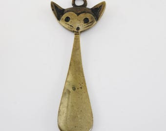 """Childrens shoehorn/lifter """"Cat""""/Viennese figural cat"""