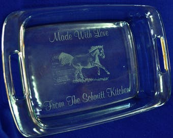 Horse Gifts ~ Gift For Horse Family ~ Horses ~ Gift For Farm Family ~ Christmas Gifts ~ Personalized Gift ~ Custom Pan ~ Horse Lover Gifts ~
