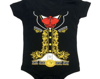 BABY One-Piece Jumpsuit Mariachi Charro Costume Body Suit T-Shirt