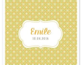 Faire-part de naissance Emile, vintage et moderne, à personnaliser