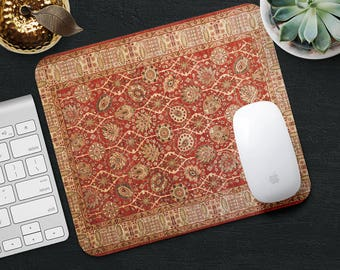 Rug Mouse Pad Mousepad Red Mouse Mat Persian Carpet MousePad Office Gift Mousemat Rectangular Mousemat Persian Mouse Pad Desk Accessories