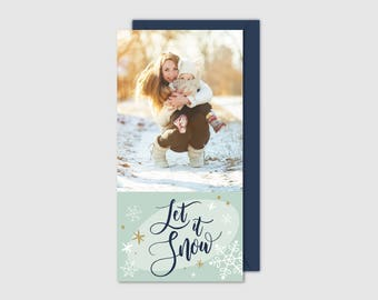 Printable Holiday Card - Let It Snow