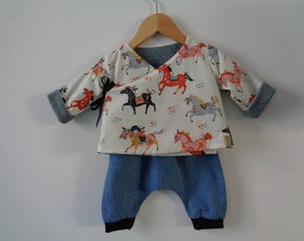 All reversible kimono jacket / pants - 6 months