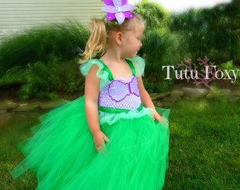 Little Mermaid Tutu Dress, Ariel  Tutu Dress, Little Mermaid costume, Ariel Costume, Mermaid Costume, Mermaid tutu Dress,