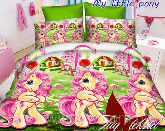 my little pony fairy horse 4pcs set cotton bedding set single twin full double queen fitted