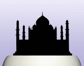 Acrylic Taj Mahal Indian Cake Topper Decoration