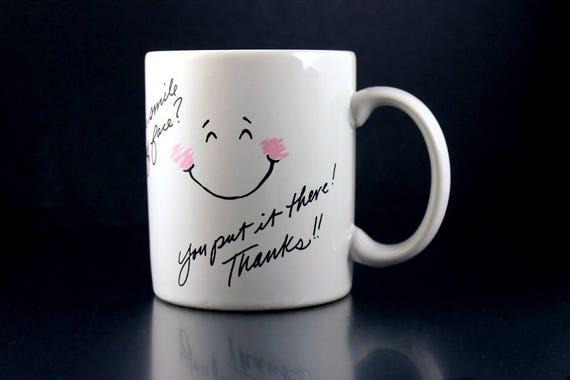 Mug, Shoebox Greetings, Hallmark, See this smile, Coffee Mug, Tea Mug, Hot Chocolate Mug, Collectible