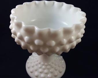 Fenton Hobnail Pedestal Candy Dish