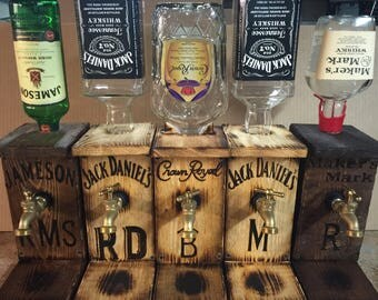 Liquor dispenser Gifts for him Jack Daniels Jameson Crown Royal Birthday gifts Father's Day gifts Gifts for dad Groomsman gifts Grandpas