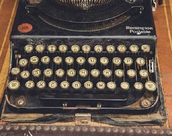 Vintage Remington Typewriter Photo, Old typewriter, Keys, Antique Wall Decor, Fine Art Photography, Writer, Office Print, Type, Old Home Art