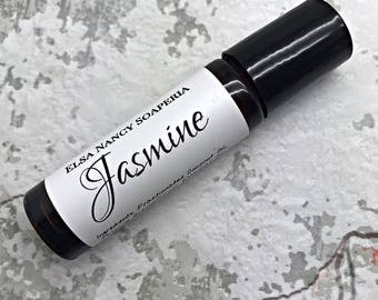 JASMINE Single Note Essential Oil Roll On , Custom your own perfume, Botanical Perfume , Aromatherapy , Essential Oil Roll On