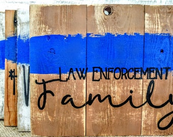 Law Enforcement pallet sign, rustic Police signs, Gallery wall Signs, Police pallet signs, Thin blue line signs, Law enforcement art