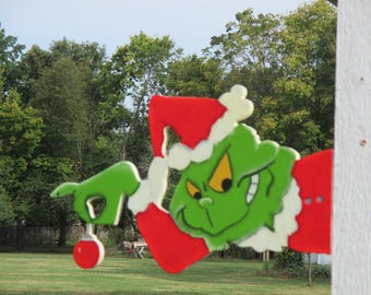 Grinch Yard Art Outdoor Christmas Decorations
