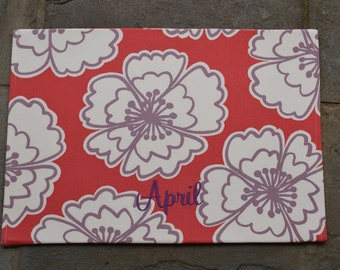 Personalized Pet Placemat || Lilly Inspired Floral || Custom Puppy Gift by Three Spoiled Dogs