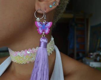 Butterly Baby Tassel Earrings