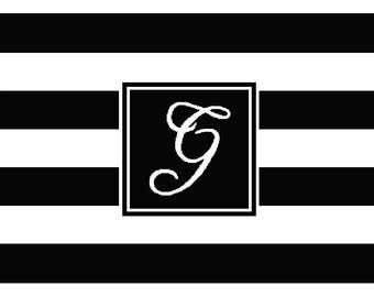 Personalise: Striped It Monogram