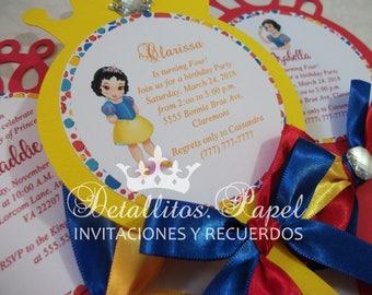Snow White Invitation, Mirror invitation, Snow white Party, Snow White Invitations, Mirror Invites