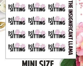 Pet Sitting - Toe Beans - Pet Care - Babysitter - Planner Stickers