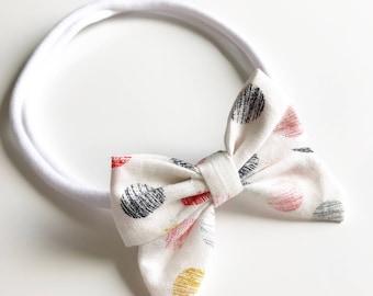 Baby Girl Spots Nylon Bow Headband