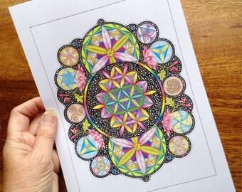 Sacred Geometry 'Scroll'
