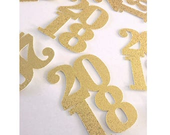 Jumbo 2018 Confetti- New Years Eve Party Decorations- 2018 Confetti- Class of 2017 - Class of 2018- happy new year confetti- confetti toss