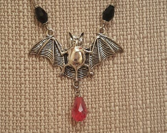 Vampire Bat Necklace, Free Shipping