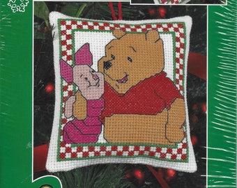 Winnie-the-Pooh & Piglet Christmas Ornament Cross Stitch Kit