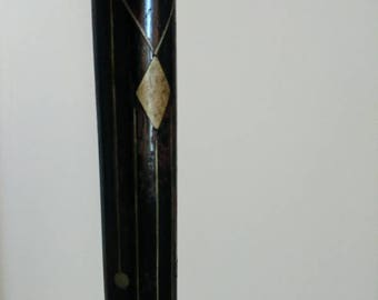 Antique Art Deco walking stick cane inlay