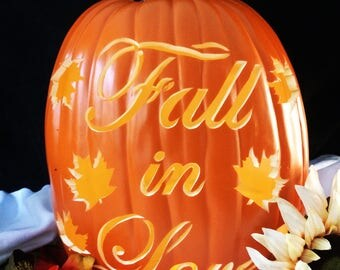 "SOLD OUT(Order for next year) 12"" ""Fall in Love"" Wedding Pumpkin"