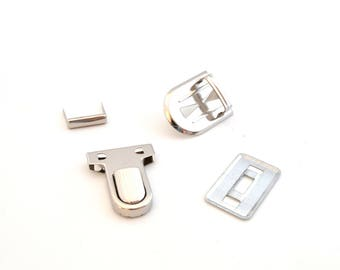 Buckle satchel Silver 3 X 2.5 cm