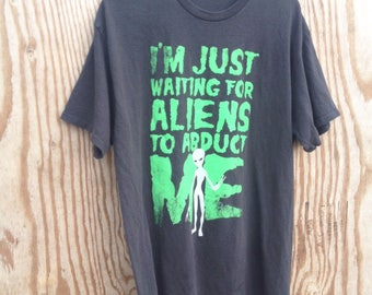 90's Vintage UFO Grunge Peace Alien Shirt