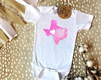 Cute Baby Onesie®,Baby Shower Gift,Baby Gift,Baby Girl Gift,Home Grown Onesie®,Home Grown,Texas Home Grown,Cute Onesie®,Texas Shirt