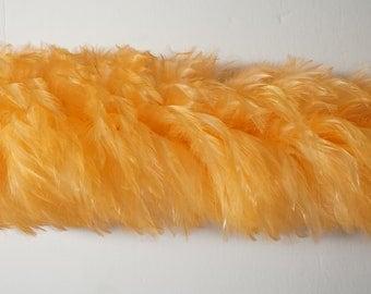 "2 yards HACKLE BOA Peach 4-6"" Feathers"