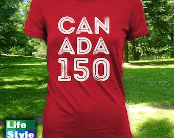 Canada 150 T-shirt, mens womens t-shirt, canada day t-shirt,canada day shirt,canada day,happy canada day,canada 150,canadian apparel-CT-1300