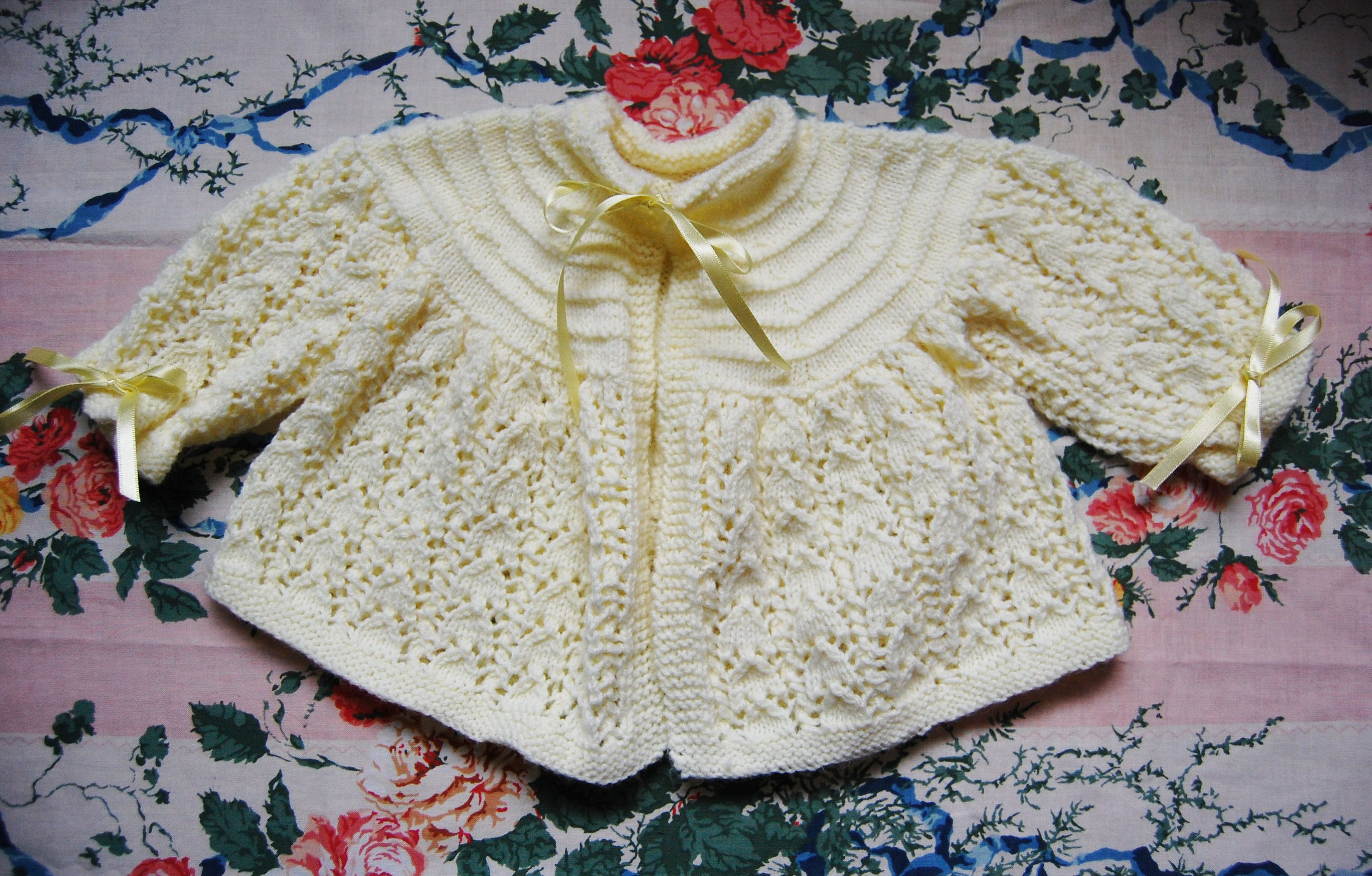 Girls' Clothing (0-24 Months) Hand Knitted Baby Cardigans Newborn yellow