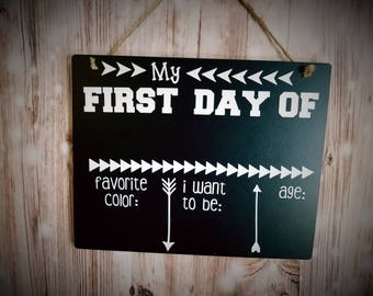 First Day Of School Reusable Sign - First Day Of Class Sign - First Day Sign - School Days - School Photo Prop - School Photography Prop