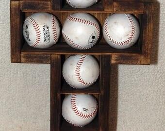 Wooden Cross Shadow Box Display Case Baseballs Wood Baseball Shadowbox Tennis Ball