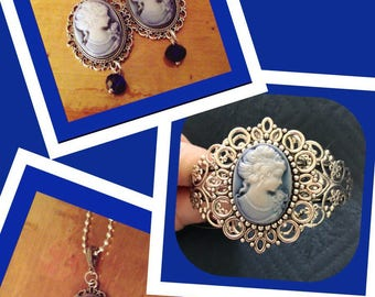 Beautiful Blue Cameos