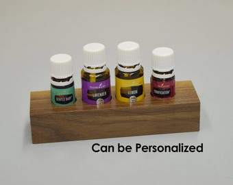 Essential Oil Display ~ FREE SHIPPING ~ Personalization Available ~ EO Holder ~ Oil Organizer ~ 5ml 10ml 15ml ~ Young Living ~ DoTerra