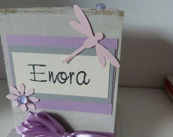 "original and personalized piggy bank ""Dragonfly"""