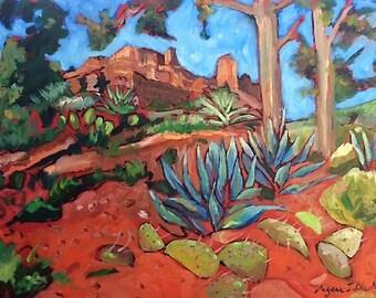Modern Art Print Sedona Mountains Landscape Wowie Zowie
