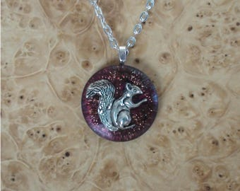 Auburn Squirrel Soul-Antenna Ormus Orgone Crystal Energy Unisex Pendant Necklace 25mm Friendship Family Tribe Courage Abundance Compassion